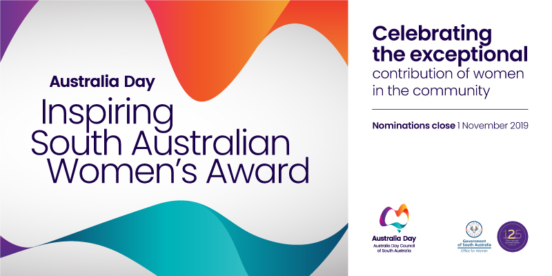 Australia Day Inspiring South Australian Women's Award - celebrating the exceptional contribution of women in the community