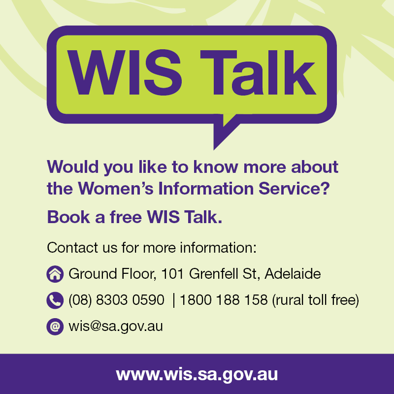 Book a free talk to learn more about the Women's Information Service. Contact us for more information.