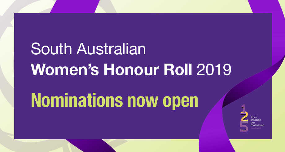 SA Women's Honour Roll 2019