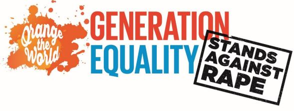 Orange the World campaign Generation Equality Stands Against Rape