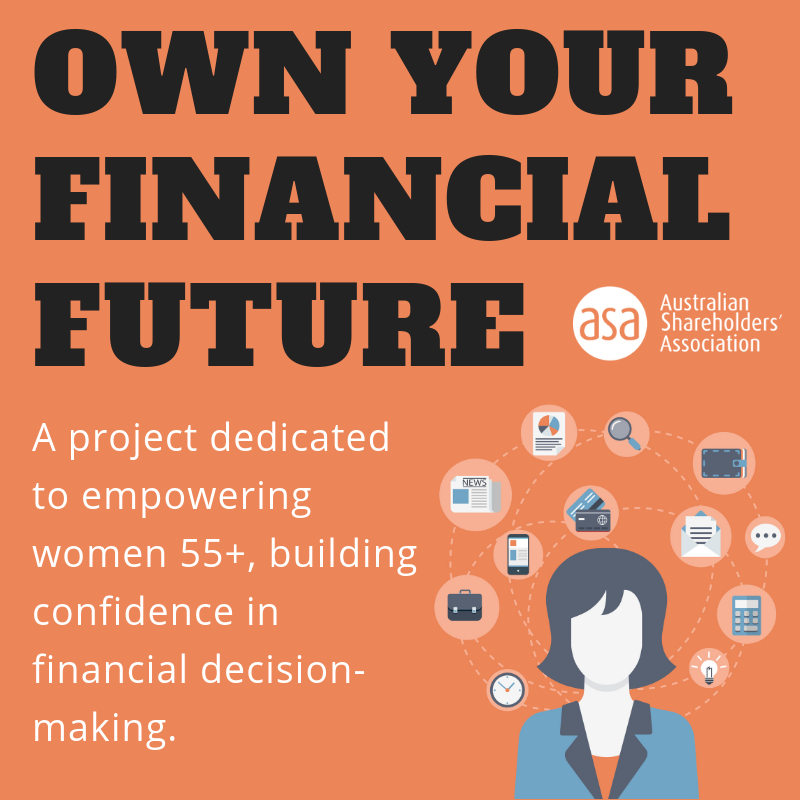 Own your financial future: A project dedicated to empowering women 55+ building confidence in financial decision making